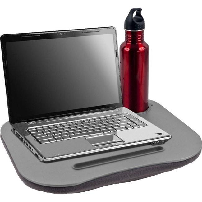 Deluxe Comfort Grey Micro-beaded Pillow Bottom Laptop Des...