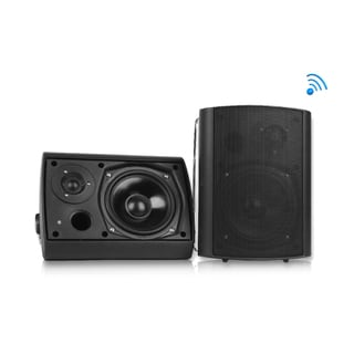 Pyle PDWR62BTBK Wall Mount Waterproof and Bluetooth Black 6.5-inch Indoor / Outdoor Speaker System