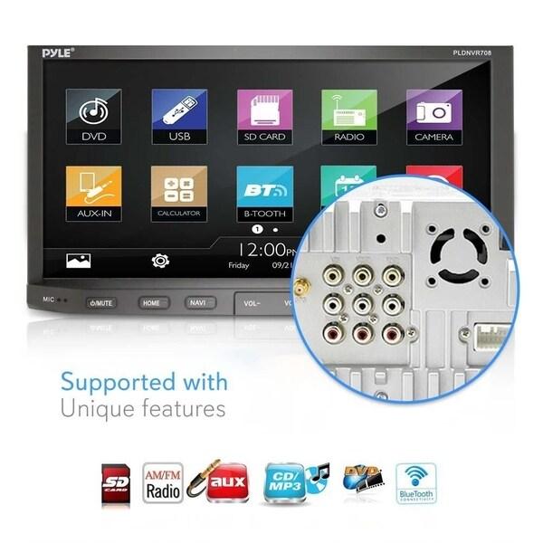 Pyle PLDNVR708 GPS Car Stereo and Camera Kit w// Headunit BackUp Cam Dash Cam