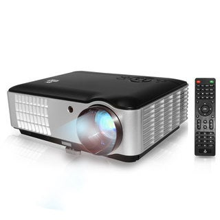 Pyle PRJLE78 Hi-Res Home Theater Multimedia HD Projector with 1080p Support 2800 Lumen Brightness and USB Flash Drive Reader
