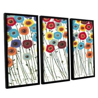 ArtWall Norman Wyatt JR's Simply Gorgeous, 3 Piece Floater Framed Canvas Set