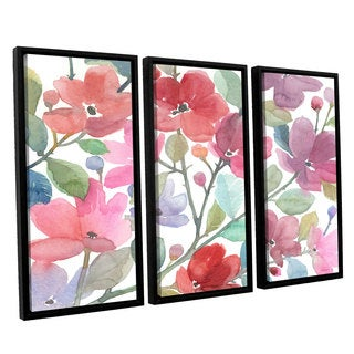 ArtWall Norman Wyatt JR's The Colors OF Spring, 3 Piece Floater Framed Canvas Set