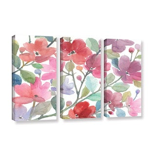 ArtWall Norman Wyatt JR's The Colors OF Spring, 3 Piece Gallery Wrapped Canvas Set