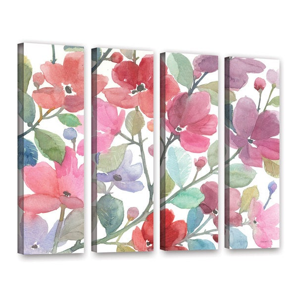 ArtWall Norman Wyatt JR's The Colors OF Spring, 4 Piece Gallery Wrapped Canvas Set