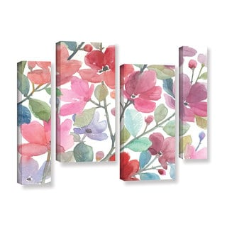 ArtWall Norman Wyatt JR's The Colors OF Spring, 4 Piece Gallery Wrapped Canvas Staggered Set
