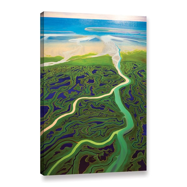 ArtWall John Sabraw's Copper River, Gallery Wrapped Canvas