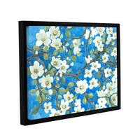 ArtWall Norman Wyatt JR's White Blossoms, Gallery Wrapped Floater-framed Canvas
