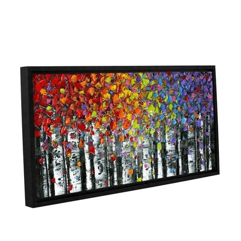 ArtWall Susanna Shaposhnikova's Birch, Gallery Wrapped Floater-framed Canvas