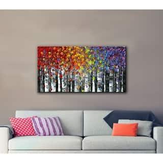 ArtWall Susanna Shaposhnikova's Birch, Gallery Wrapped Canvas|https://ak1.ostkcdn.com/images/products/11100925/P18105758.jpg?impolicy=medium
