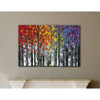 ArtWall Susanna Shaposhnikova's Birch, 3 Piece Gallery Wrapped Canvas Set