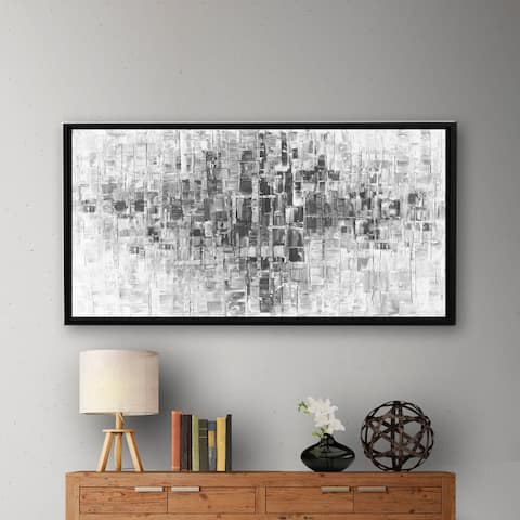 ArtWall Susanna Shaposhnikova's Black And White, Gallery Wrapped Floater-framed Canvas