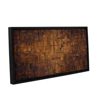 ArtWall Susanna Shaposhnikova's Brown, Gallery Wrapped Floater-framed Canvas