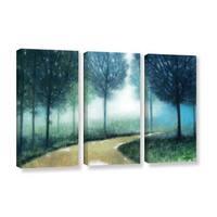 ArtWall Norman Wyatt JR's Early Morning Mist, 3 Piece Gallery Wrapped Canvas Set