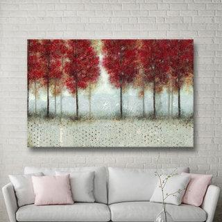 ArtWall Norman Wyatt JR's Autumn Blaze, Gallery Wrapped Canvas - Red