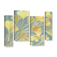 ArtWall Norman Wyatt JR's Gorgeous Ginko, 4 Piece Gallery Wrapped Canvas Staggered Set