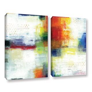 ArtWall Norman Wyatt JR's Jubliant, 2 Piece Gallery Wrapped Canvas Set
