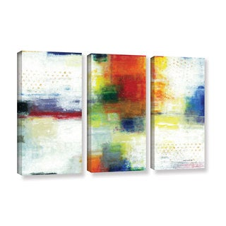 ArtWall Norman Wyatt JR's Jubliant, 3 Piece Gallery Wrapped Canvas Set