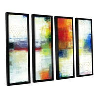 ArtWall Norman Wyatt JR's Jubliant, 4 Piece Floater Framed Canvas Set
