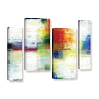 ArtWall Norman Wyatt JR's Jubliant, 4 Piece Gallery Wrapped Canvas Staggered Set - Multi