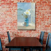 ArtWall Danhui Nai's Coastal Floral 2, Gallery Wrapped Canvas