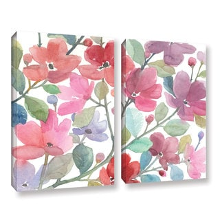 ArtWall Norman Wyatt JR's The Colors OF Spring, 2 Piece Gallery Wrapped Canvas Set