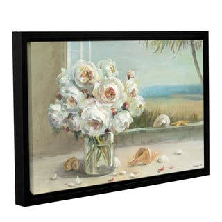 Copper Grove Danhui Nai's 'Coastal Roses' Gallery Wrapped Floater-framed Canvas