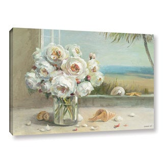 ArtWall Danhui Nai's Coastal Roses, Gallery Wrapped Canvas