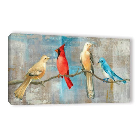 ArtWall Danhui Nai's Bird Gossip, Gallery Wrapped Canvas