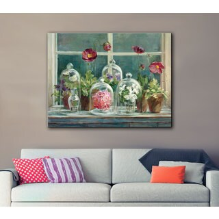 ArtWall Danhui Nai's Purple Poppies Windowsill, Gallery Wrapped Canvas