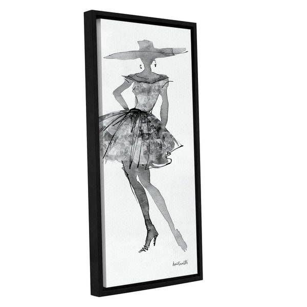 ArtWall Anne Tavoletti's Fashion Sketchbook V, Gallery Wrapped Floater-framed Canvas