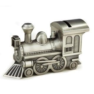 Elegance Pewterplated Train Bank