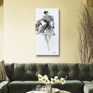 ArtWall Anne Tavoletti's Fashion Sketchbook VII, Gallery Wrapped Canvas
