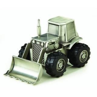 Heim Concept Pewterplated Bulldozer Bank