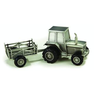 Heim Concept Pewterplated Tractor Bank