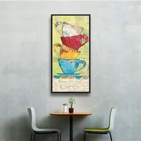 ArtWall Courtney Prahl's Come For Coffee, Gallery Wrapped Floater-framed Canvas