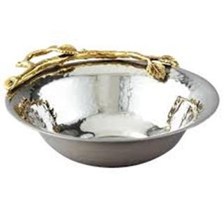 Heim Concept Gilt Leaf Nut Bowl