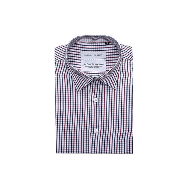 35ac6ef65baed5 Shop Jordan Jasper Men s Multi Color Check Dress Shirt - Free Shipping On  Orders Over  45 - Overstock - 11101134