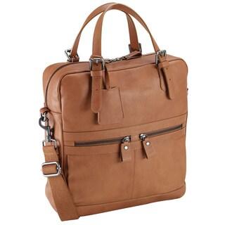 Bugatti Italian Leather 13-inch Laptop Briefcase Tote Bag