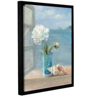 ArtWall Danhui Nai's Coastal Floral 1, Gallery Wrapped Floater-framed Canvas