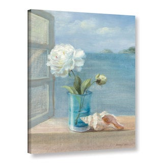 ArtWall Danhui Nai's Coastal Floral 1, Gallery Wrapped Canvas