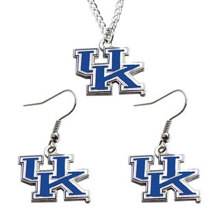 Kentucky Wildcats Necklace and Dangle Earring Charm Set