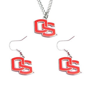 Oregon State Beavers Necklace and Dangle Earring Charm Set