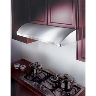 KOBE CHX2236SQB-1 Brillia 36-inch Under Cabinet Range Hood, with 3-Speed, 680 CFM, LED Lights, and Baffle Filter
