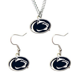 Penn State Nittany Lions Necklace and Dangle Earring Charm Set