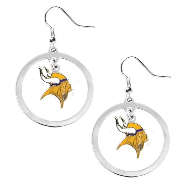 NFL Minnesota Vikings Floating Logo Hoop Earring Set