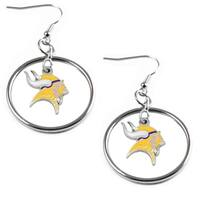 NFL Minnesota Vikings Floating Logo Hoop Earring Set