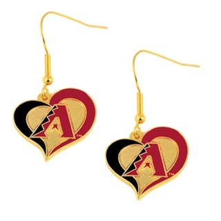 Arizona Diamondbacks Swirl Heart Earring Set