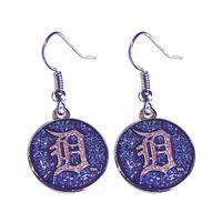 MLB Detroit Tigers Glitter Sparkle Dangle Logo Earring Set