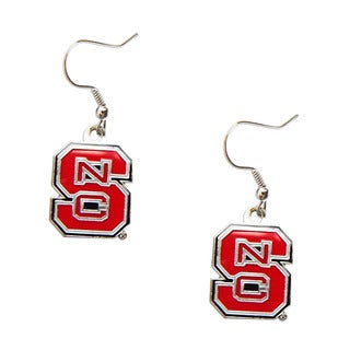 NCAA North Carolina State Wolfpack Dangle Logo Earring Set