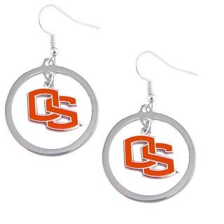 NCAA Charm Oregon State Beavers Hoop Logo Earring Set